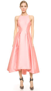 monique lhuillier structured party dress rose in pink lyst