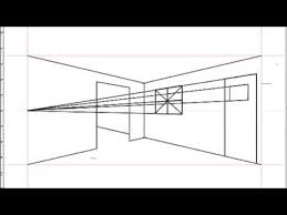 how to draw an interior space using two point perspective youtube