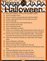 20 things to do for halloween free printables