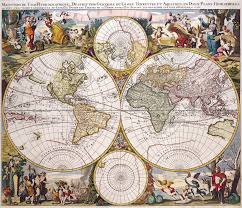 World Map Hemispheres by Antique Maps Of The Worlddouble Hemisphere Polar Mapgerard Valkc