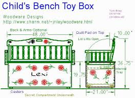 Wooden Toy Box Bench Plans by Plans For Child U0027s Wooden Toy Box Wooden Furniture Plans
