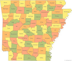 the map map of arkansas