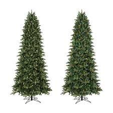 ge 9 ft pre lit frasier fir slim artificial tree white