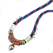 beaded necklace rope images Buy funky rhodium beaded rope necklace banana jpg