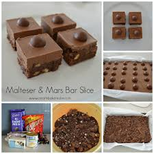 malteser and mars bar slice create bake make