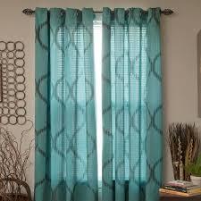 Sheer Grommet Curtains Plyh Shimmering Metallic Abstract Semi Sheer Grommet Curtain Panel