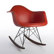 herman miller rare vintage original eames upholstered red red arm