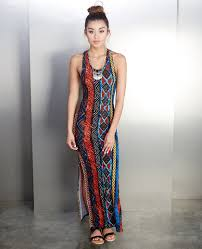 tribal dress tribal print maxi dress seal