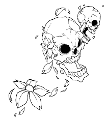 awesome flower and skull design