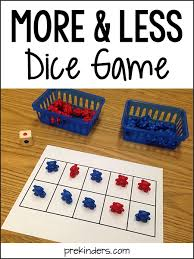 more and less activities for pre k and preschool prekinders