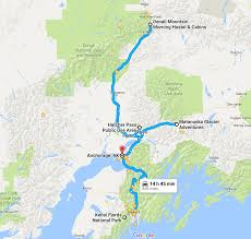 Alaska On A Map by Alaska Road Trip On A Budget What To See Where To Stay And More