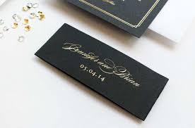 Black Wedding Invitations Jennifer Brian U0027s Gold Foil And Black Wedding Invitations