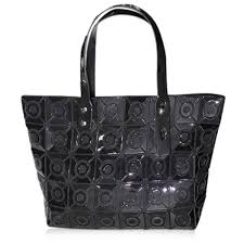 pattern for tote bag with zipper zip closure geometric pattern tote bag in black sammydress com