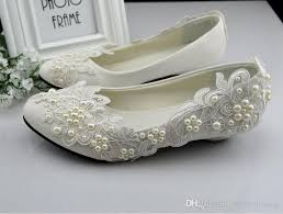 wedding shoes sale hot sale lace wedding shoes white princess pearls flat low heel