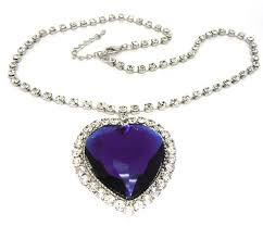 titanic blue necklace images Titanic heart of the ocean diamond alta joyera blue diamond jpg