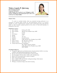 Med Surg Rn Resume Examples by Resume Sample In The Philippines Free Resume Example And Writing