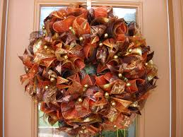 thanksgiving door ideas gold deco mesh wreath thanksgiving bounty fall door wreath decor