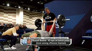 Tom Brady Combine Bench Press Top Nfl Scouting Combine Bench Press Performers From Friday Nfl