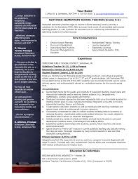 Resume Teacher Examples Sample Of A Primary Teacher Cv