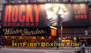 rocky broadway playing at the winter garden theater nyc youtube