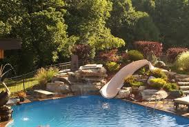 Backyard Swimming Pools Exterior Natural Stone Swimming Pool Waterfall Plantings Paver