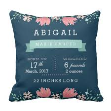 personalized pillows for baby personalized floral baby stats pillows let s personalize that