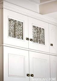 mesh cabinet door inserts wire mesh cabinet doors fabric and wire mesh inserts were added to