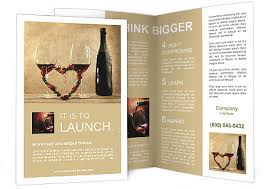 wine brochure template two glasses of wine brochure template design id 0000008038