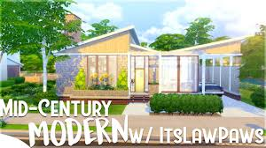 the sims 4 house building mid century modern challenge vs