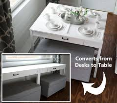 desk dining table convertible desk converts to dining table convertible tables smart and modern