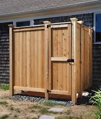 How To Build An Outdoor Shower Enclosure - outdoor shower kit enclosures cedar wall mount showers