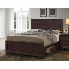 King Size Platform Bed With Storage Platform King Size Beds Cymax Stores