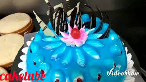 how to make colourful cakes blue colour gel frosting cake