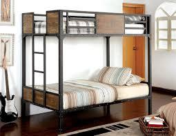 Rustic Wood  Black Metal Bunk Bed Caravana Furniture - Rustic wood bunk beds
