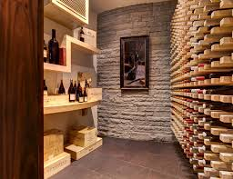 unique wooden wine with tiled floor wine cellar modern and