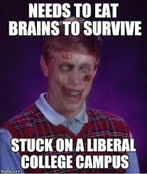 Zombie Memes - zombie bad luck brian meme imgflip