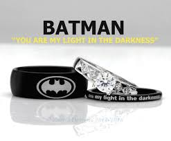 his and wedding ring set 54 best batman rings images on batman ring batman