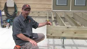 How To Attach A Pergola To A Deck by How To Build A Deck 2 Framing Beam Joists Ledger Youtube