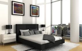 Bedroom Ideas With Upholstered Headboards Apartment Impressive Interior In Apartment Bedroom With Black