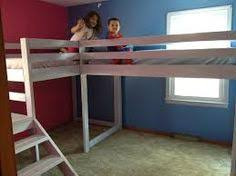 Double Loft Bed Do It Yourself Home Projects From Ana White - Double loft bunk beds