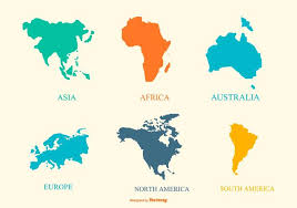 continent map continent map collection free vector stock