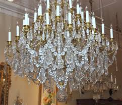 Crystal And Bronze Chandelier Antique French Bronze D U0027ore And Baccarat Crystal Chandelier