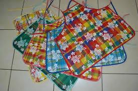 tablier de cuisine fait tablier de cuisine madras micky des tissus de la couture