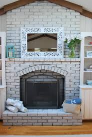 best whitewashed fireplace home interior design simple modern