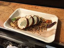 cuisine farce chicken roulade from bangarang haute cuisine with wheat berries