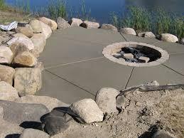 Concrete Firepit Alpha Concrete Concrete Pit Minnesota Concrete Contractor