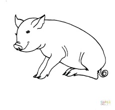 Coloring Page Of A Pig Pig Coloring Pages Free Printable Pig Pig Coloring Pages