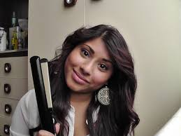 how to make flicks with a hair straightener how to make your hair wavy using a flat iron straightener youtube