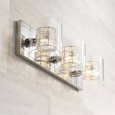 Possini Euro Design Wrapped Wire 22 Wide Bathroom Light Vanity Light Fixtures Bathroom