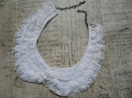vintage lace necklace images Vintage lace collar necklace ruffle collar mad men inspired nec jpg
